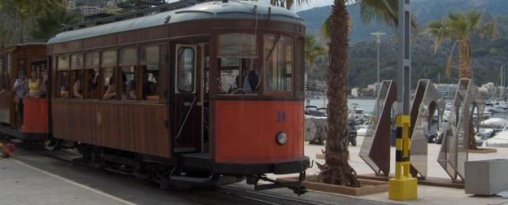 The old tramway train to Soller