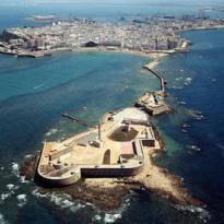 La ciudad de Cádiz desde el aire