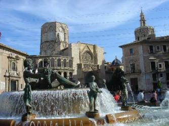 Valencia, plaza del Catedral
