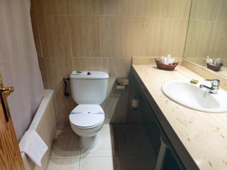 Foto del bagno Hotel Nievesol