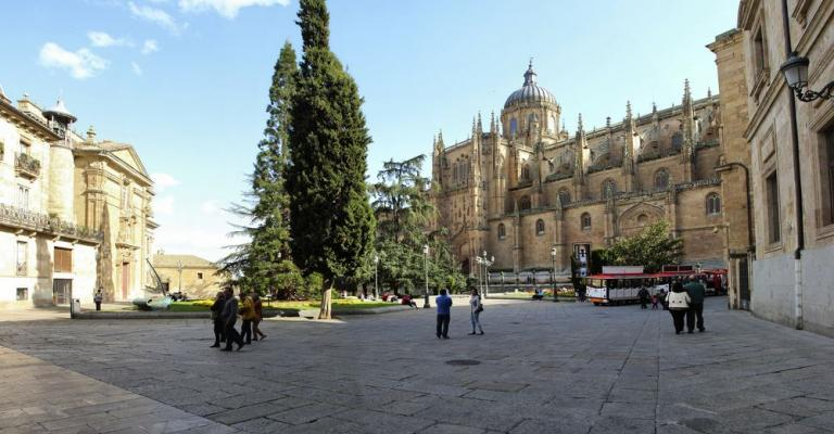 Foto Salamanca: Plaza de Anaya y catedral Salamanca