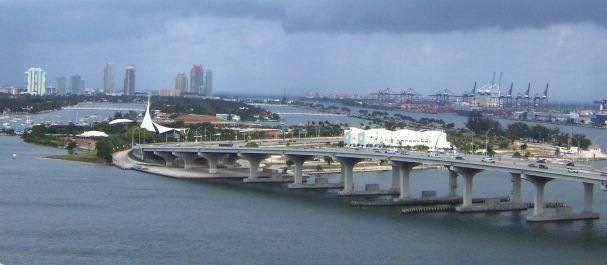 Picture United States: Vista hacia Miami Beach desde Miami