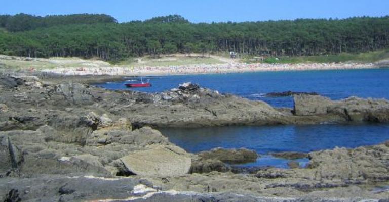 Foto : Playa de Melide, de Cangas de Morrazo
