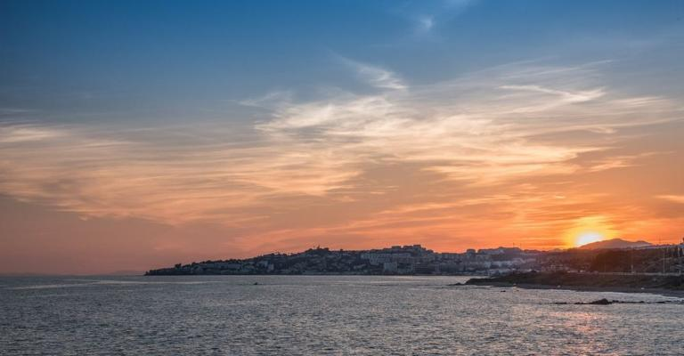 Foto Mijas Costa: Mijas costa puesta de sol