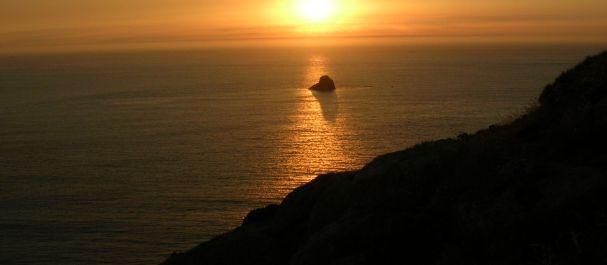 Fotografía de La Coruña: Ocaso sobre Cabo de Finisterre