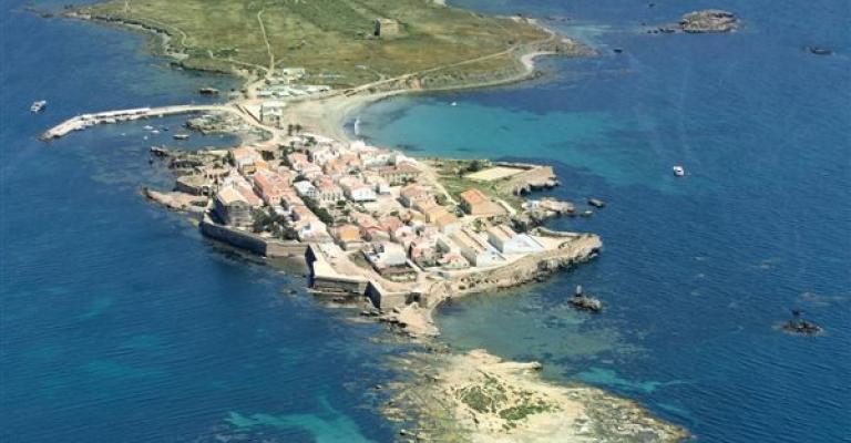 Fotografía de Isla de Tabarca: Vista aerea sobre las islas Tabarca