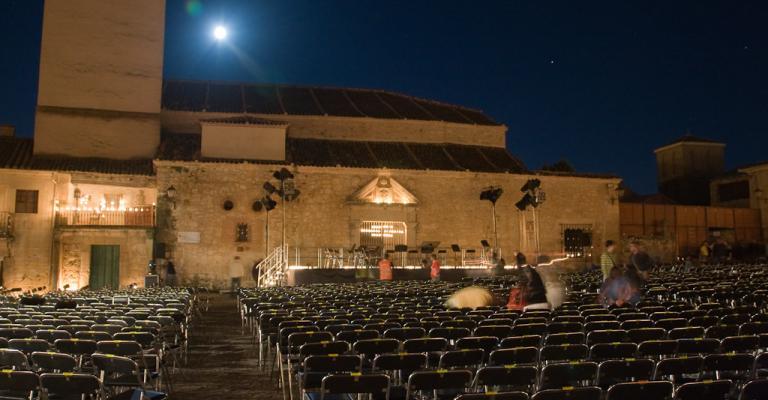 Fotografía de Segovia: Pedraza de noche