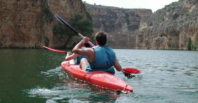 Foto Sepúlveda: Canoa en el río Duratón