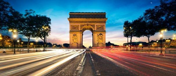 Photo France: Champs Elysées y L\'Arc de Triomphe