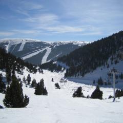 Vista sobre Port del Compte Area de Esqui